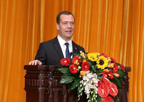俄总理梅德韦杰夫连任统俄党主席 任期为5年