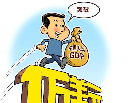 我国人均GDP1万美元